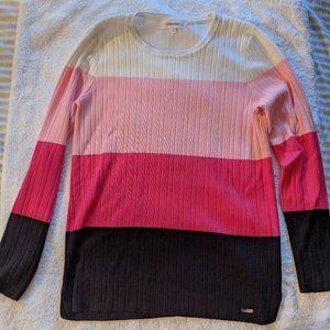 Calvin Klein Crew Neck Striped Crew Neck Sweater